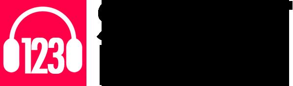 silent disco logo menu zwart